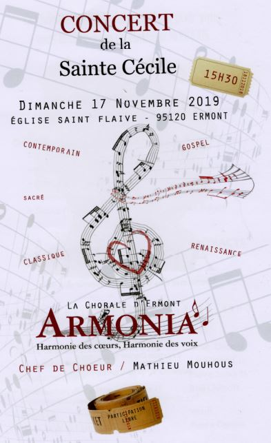 Concert ARMONIA le 17 novembre 2019