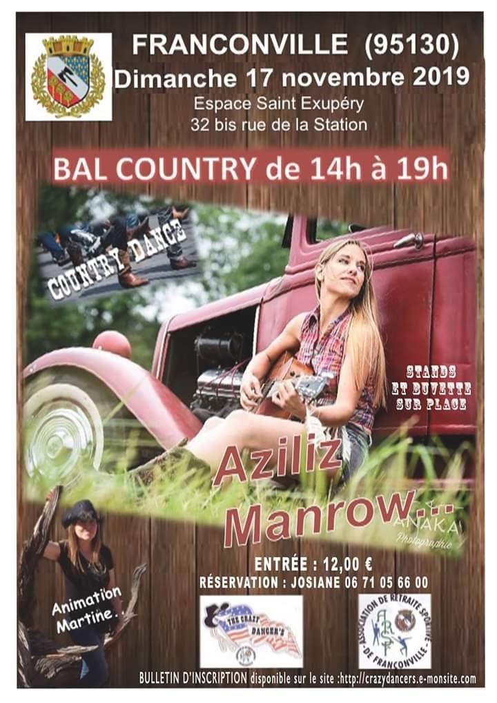 Bal country à Franconville le 17 novembre 2019