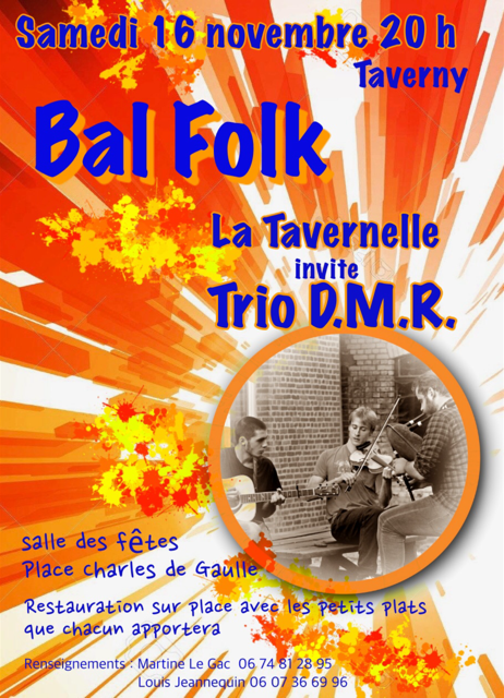 Bal folk du 16 novembre 2019 à Taverny