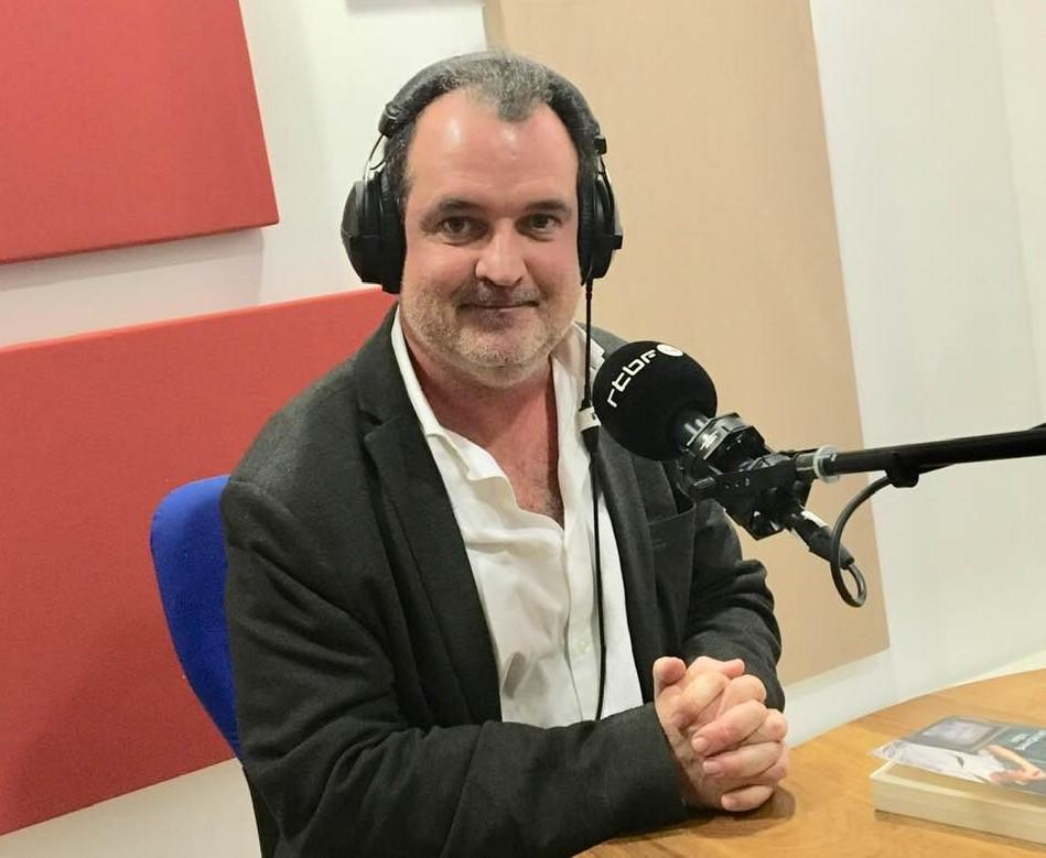 François Alquier en promotion à la RTBF