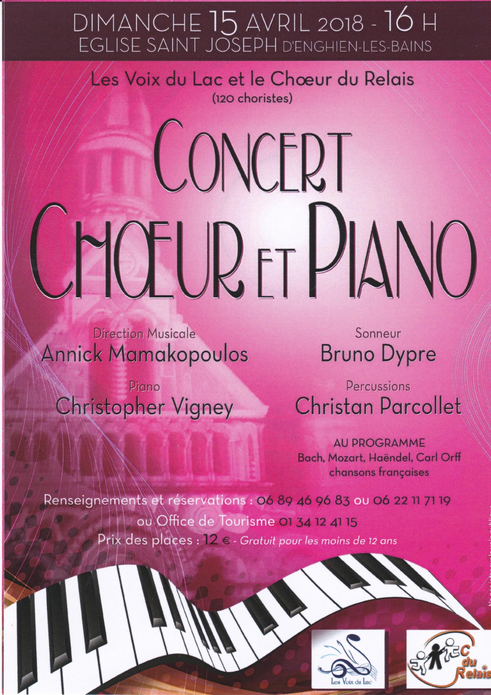 Concert Choeur et Piano - Enghien le 15 avril 2018