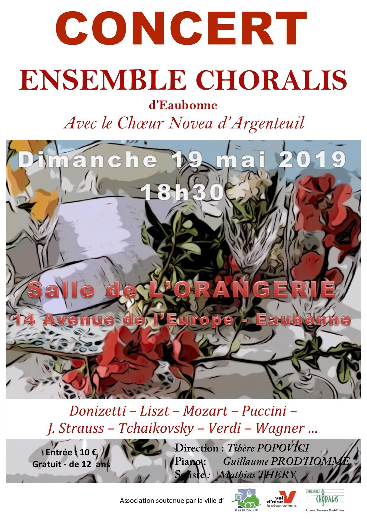 Concert Choralis le 19 mai 2019