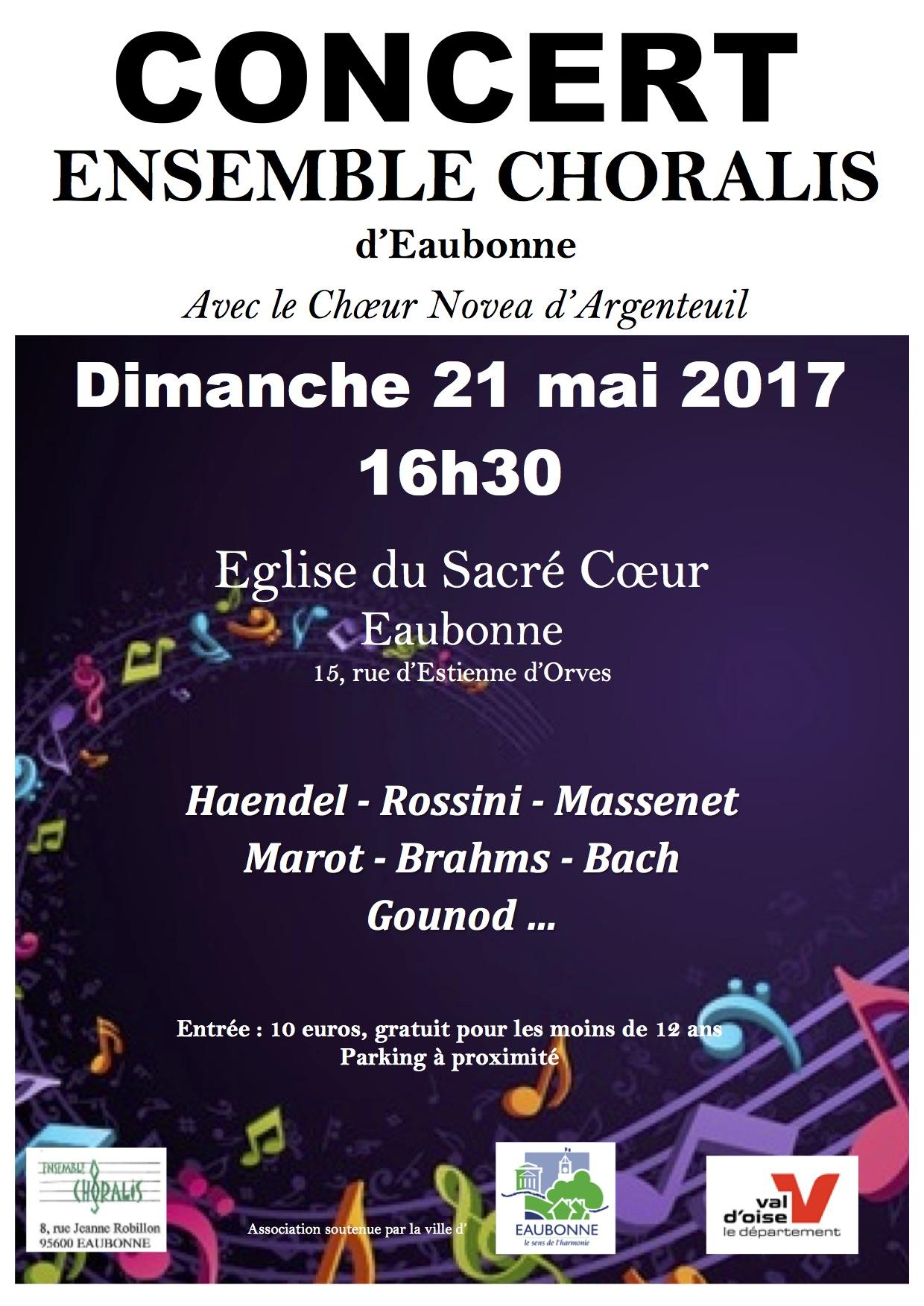 Concert de Choralis et du Choeur Novea