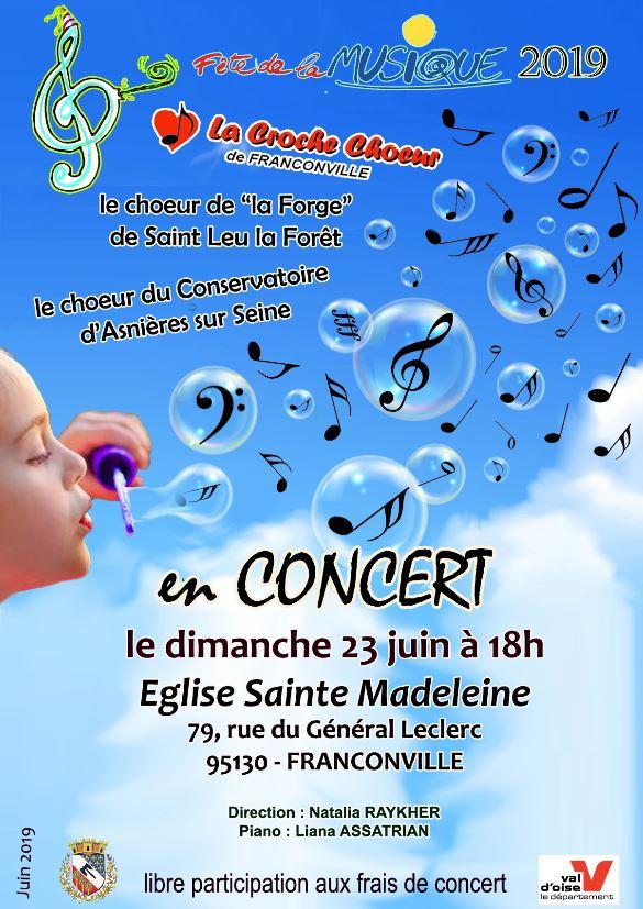 Concert de LA CROCHE CHOEUR DE fRANCONVILLE 23 JUIN 2019