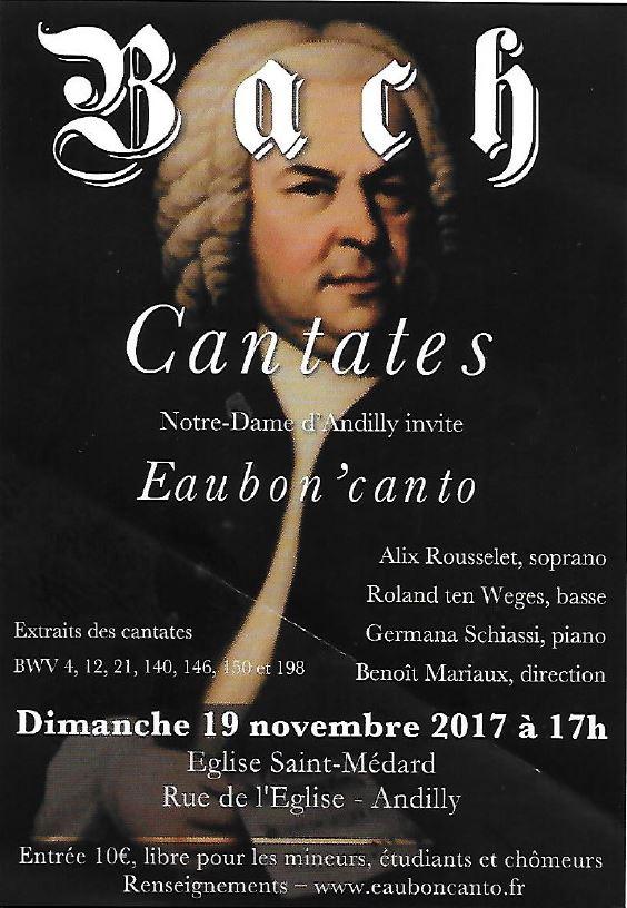 Concert EAUBON'CANTO - 19 novembre 2017