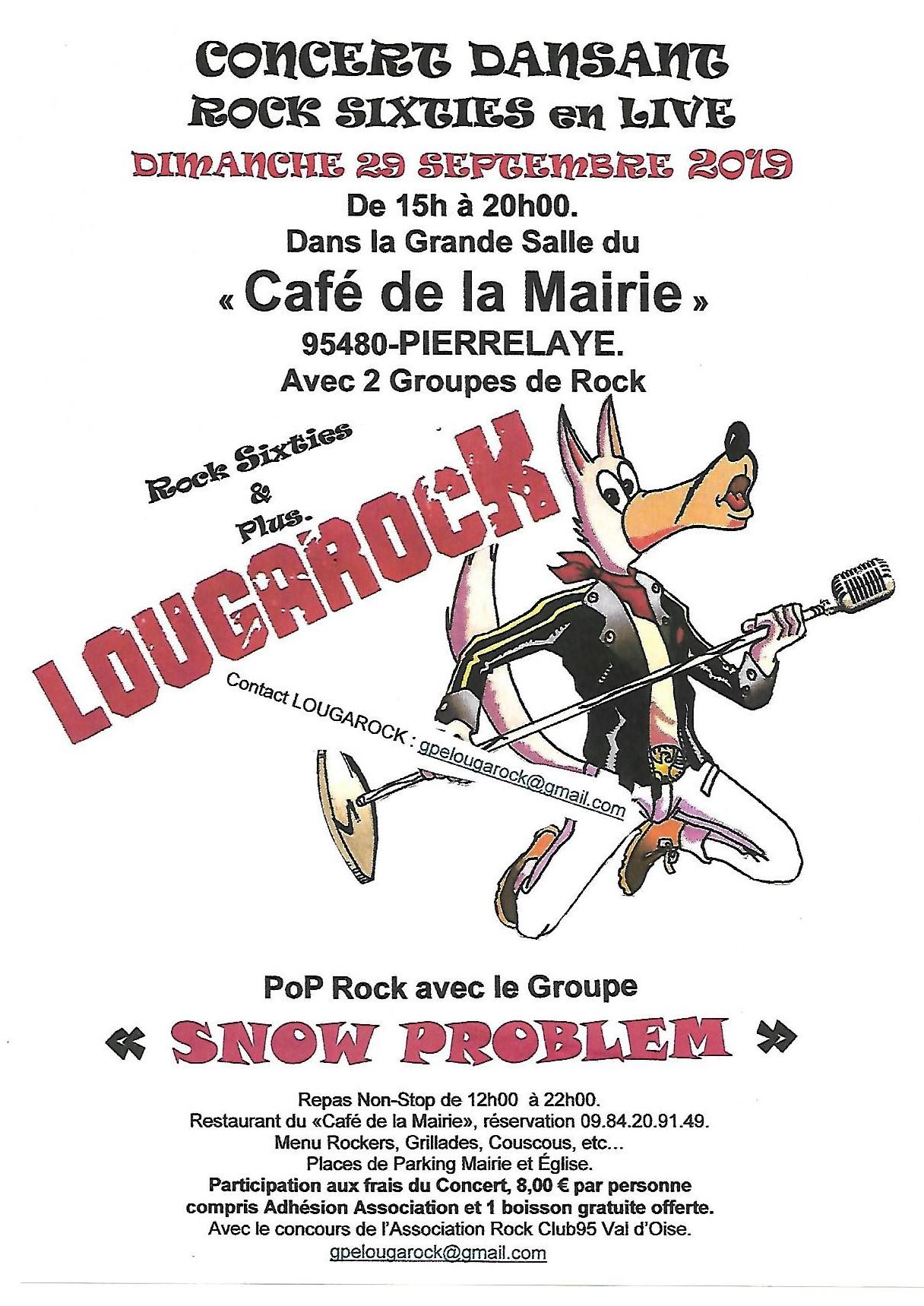 Conecrt de LOUGAROCK et SNOW PROBLEM