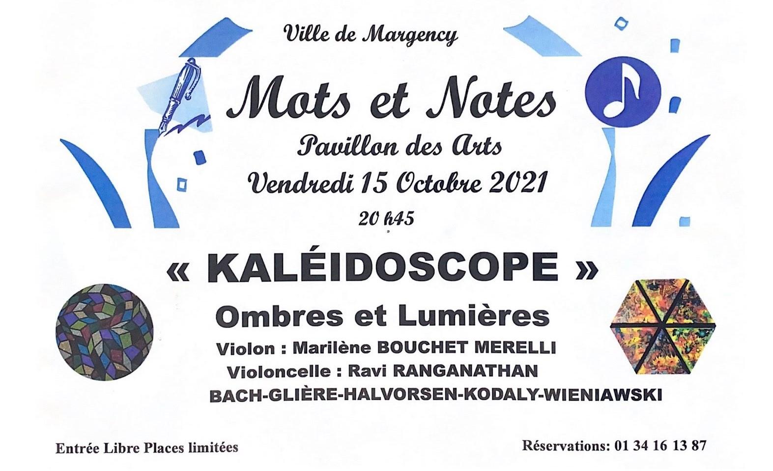 Mots et Notes à Margency le 15 octobre 2021