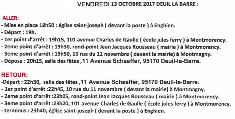 Navette gratuite pour Deuil-la-Barre - concert FMAJI