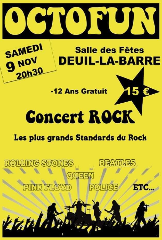 Concert de OCTOFUN à Deuil la Barre