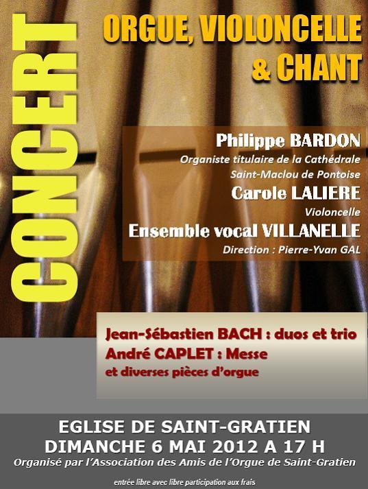concert orgue violoncelle chant 6 mai 2012