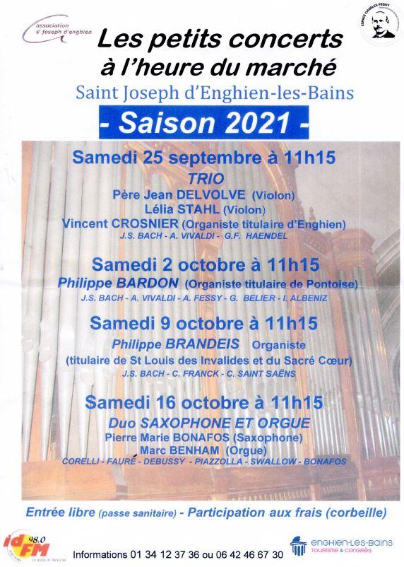 Petits concerts orgue Enghien 2021