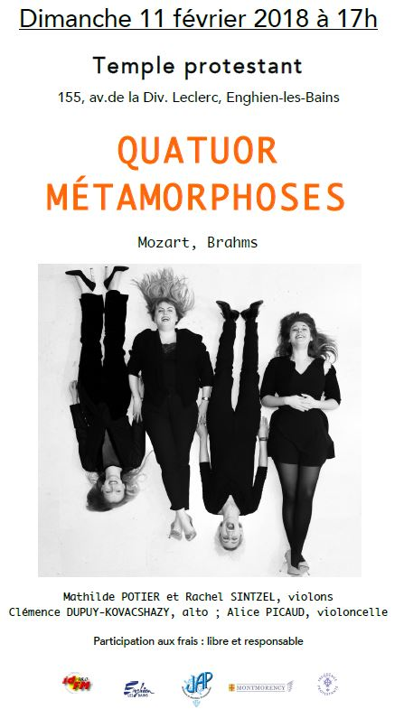 Concert du Quatuor Métamorphoses