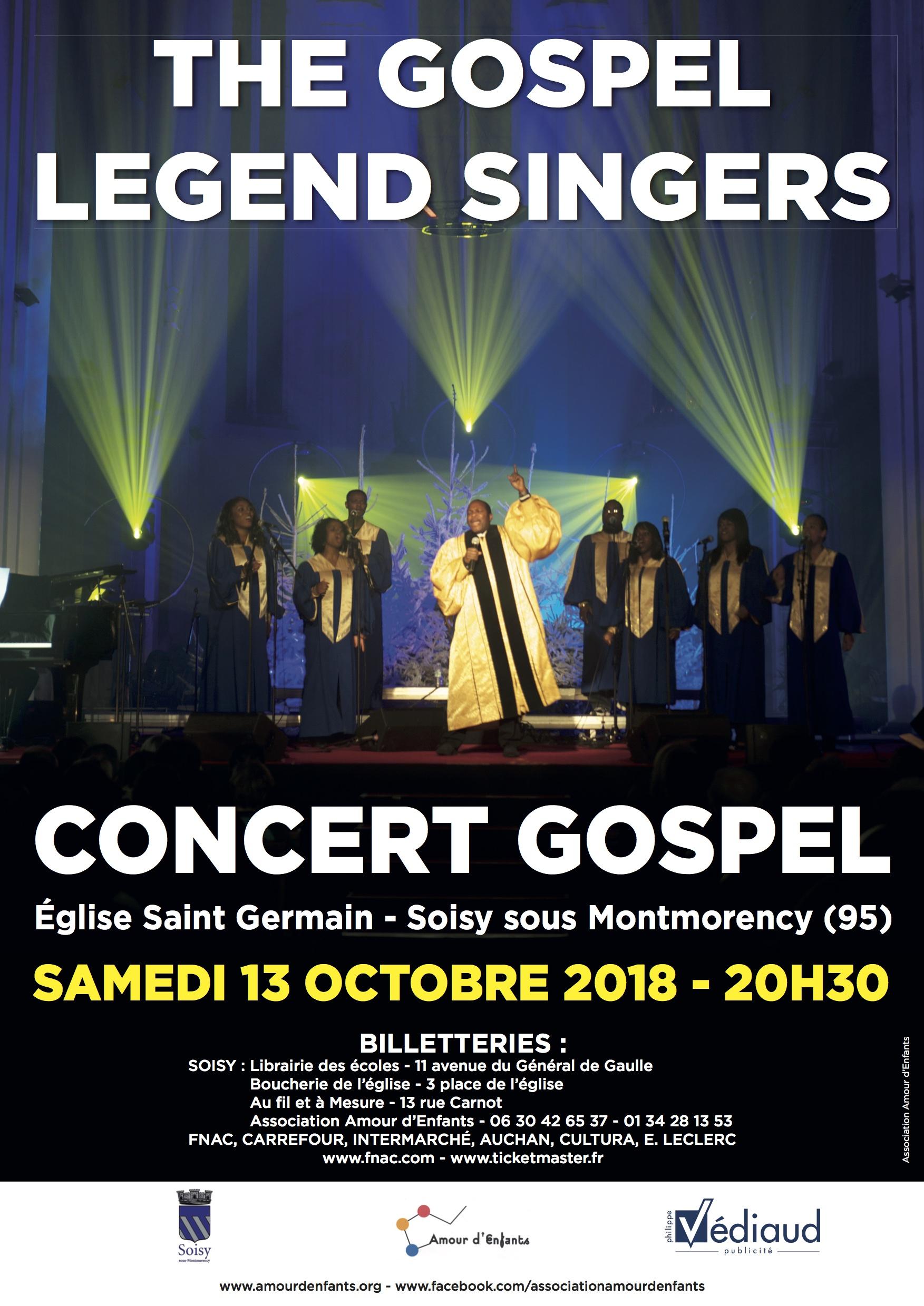 Concert de THE GOSPEL LEGEND SINGERS