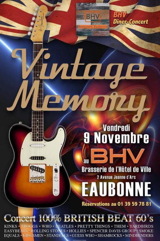 VINTAGE MEMORY - 9 novembre 2018 à Eaubonne