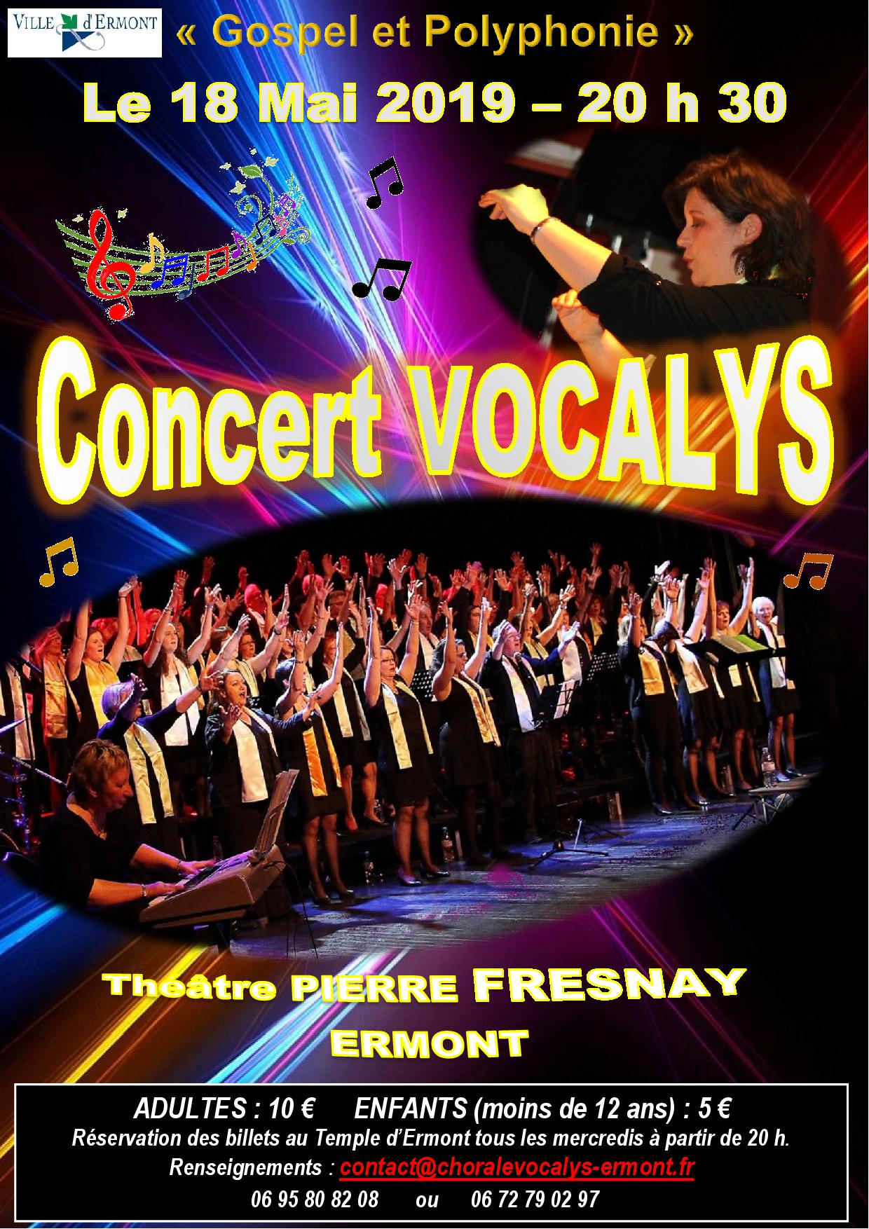 Concert de Vocalys le 18 mai 2019