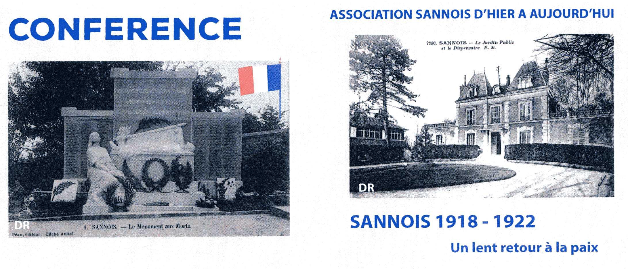 Conférence Sannois 1918 - 1922