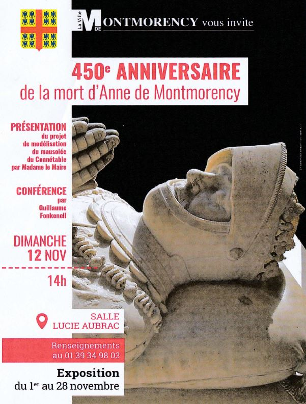 450e anniversaire de la mort d'Anne de Montmorency
