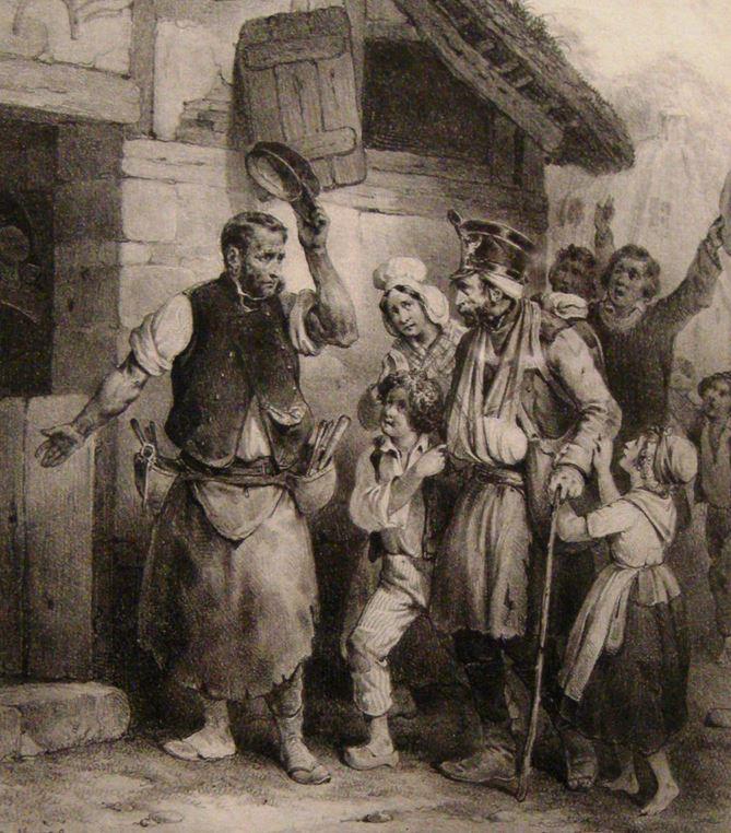 Le refugié polonais (1831) Gihaut Frères d'après Joseph-Louis-Hyppolyte Bellange
