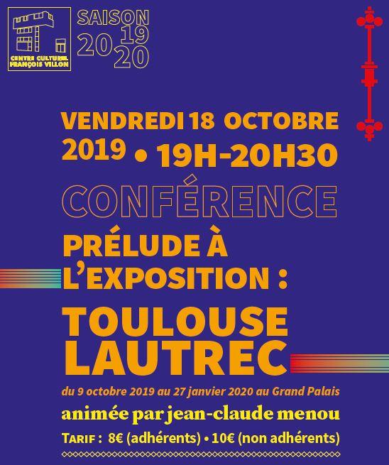 Conférence de Jean-Claude Menou le 18 octobre 2019