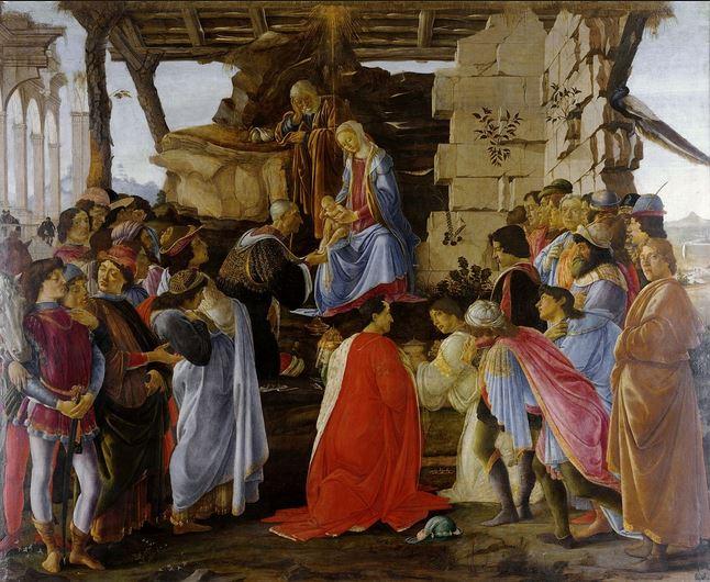 L'adoration des Rois mages de Boticelli