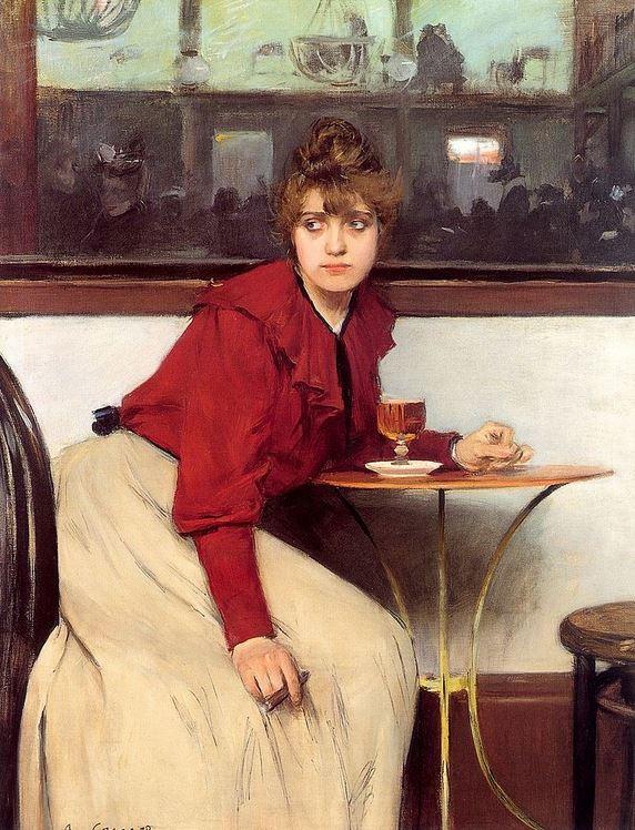 AU MOULIN DE LA GALETTE de Ramon Casas (1892)