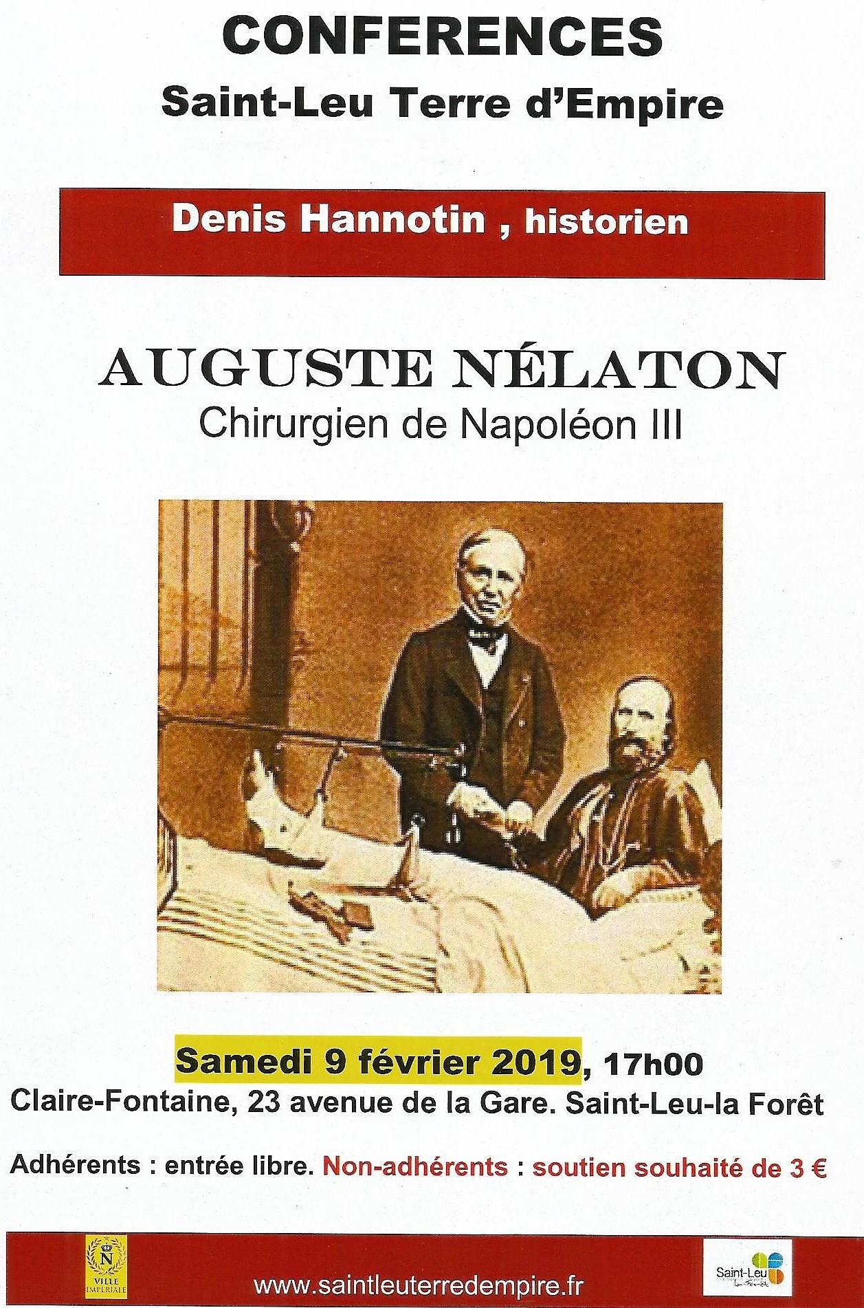 Conférence sur Auguste Nélaton