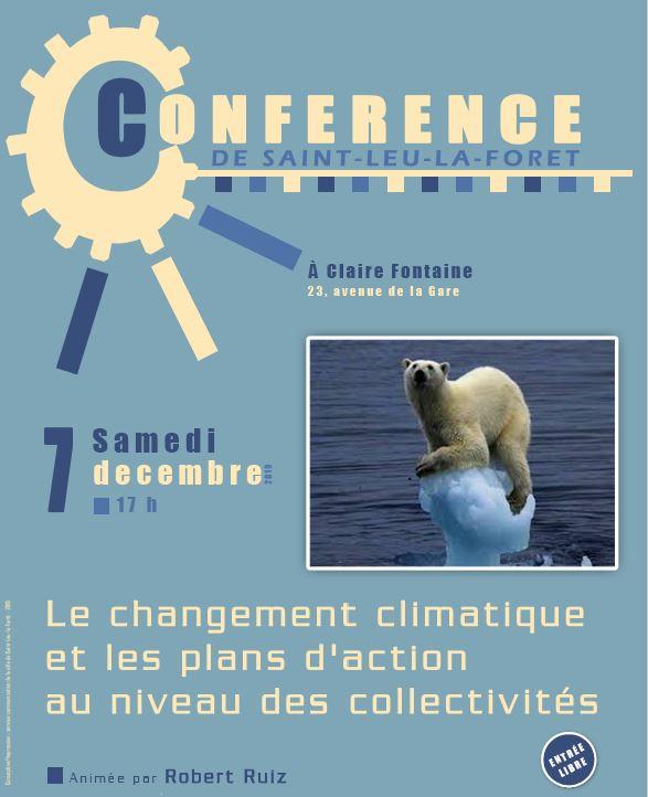 Conférence à Saint-Leu-la-Forêt - 7 décembre 2019