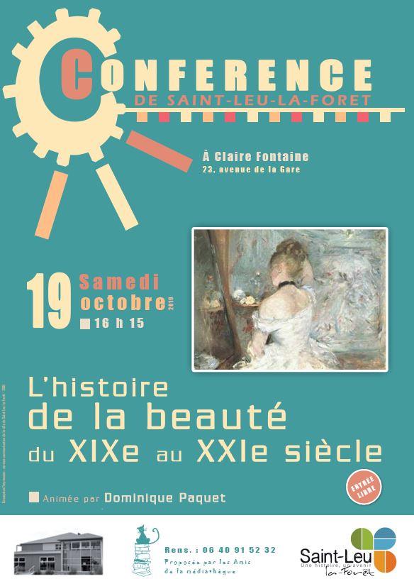 Conférence sur l'histoire de la beauté - 19 octobre 2019