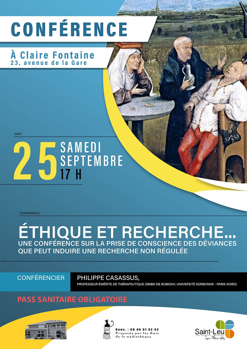 Conférence : Ethique et recherche