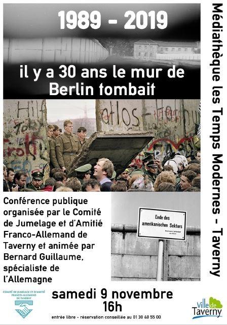 Conférence : il y a 30 ans le mur de Berlin tombait
