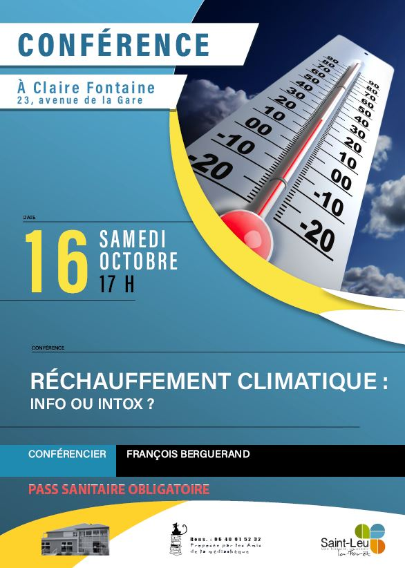 Conférence : Réchauffement climatique info ou intox