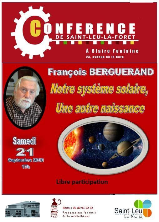 Conférence de François Berguerand - 21 septembre 2019