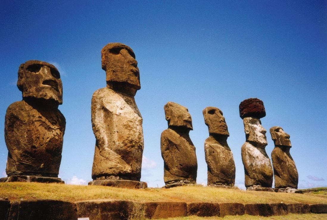 ile de pâques - statues de Moaï
