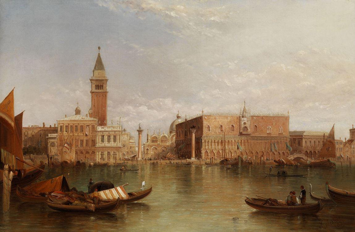vue sur Venise - Alfred Pollentine 1885