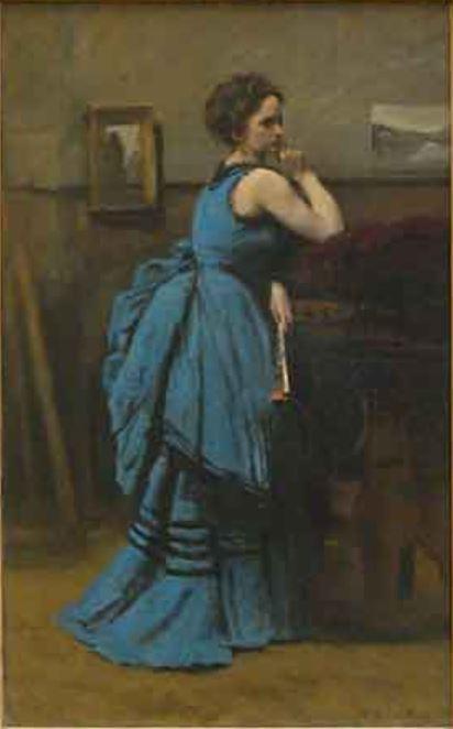 La Dame en bleu de Corot