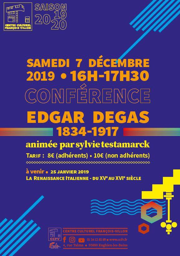 Conférence consacrée à Degas - Enghien-les-Bains
