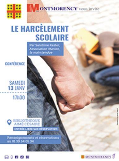 Conférence sur le harcèlement scolaire
