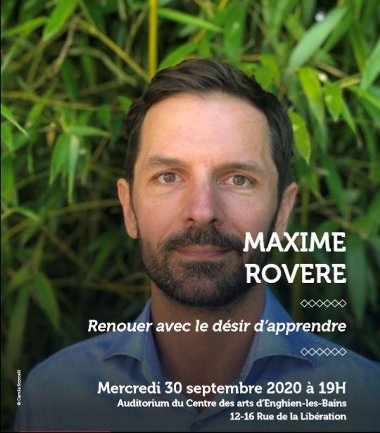Conférence à Maxime Rovère