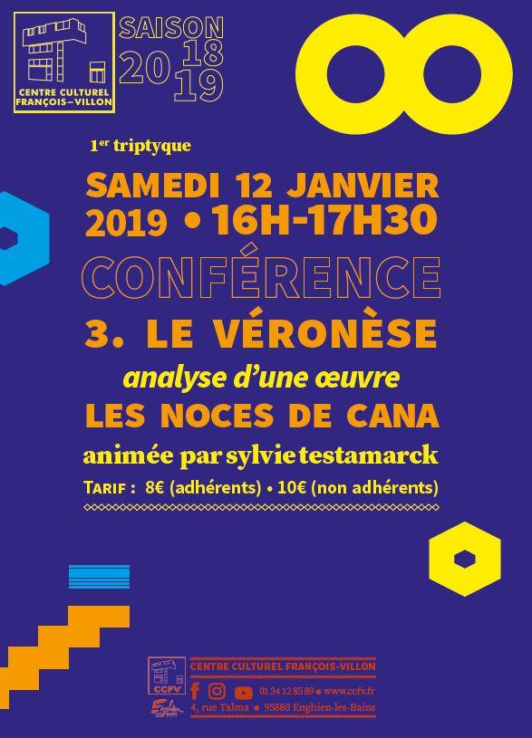 Conférence consacrée à Veronese - 12 janvier 2019