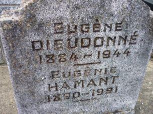 Pierre tombale d'Eugène Dieudonné à Eaubonne