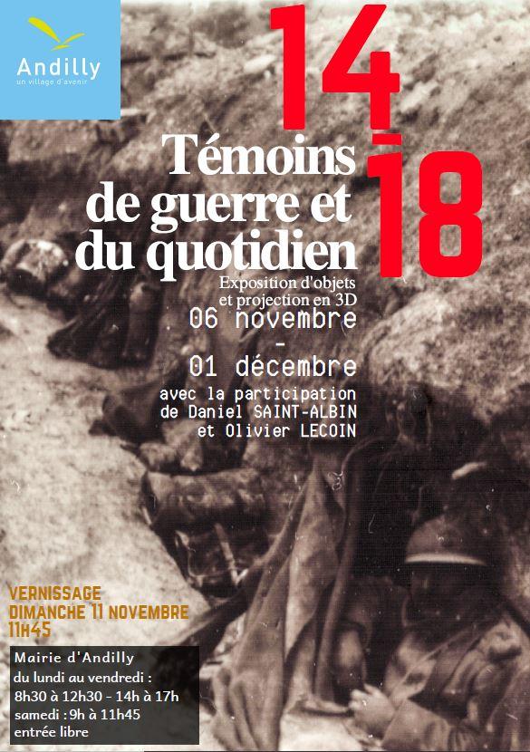 14 - 18 Témoins de guerre et du quotidien - Andilly