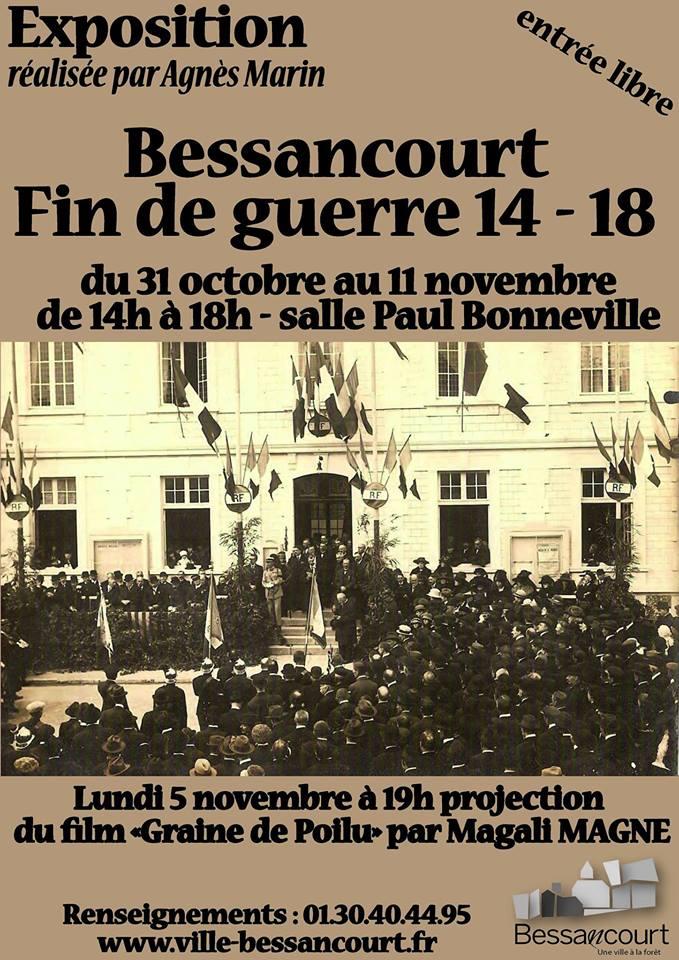 Exposition BESSANCOURT FIN DE GUERRE 14 - 18
