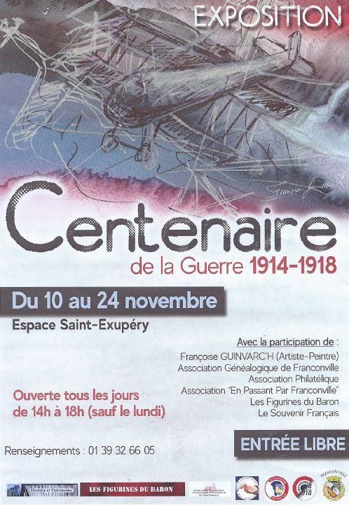 Exposition CENTENAIRE DE LA GRANDE GUERRE 1914 - 1918