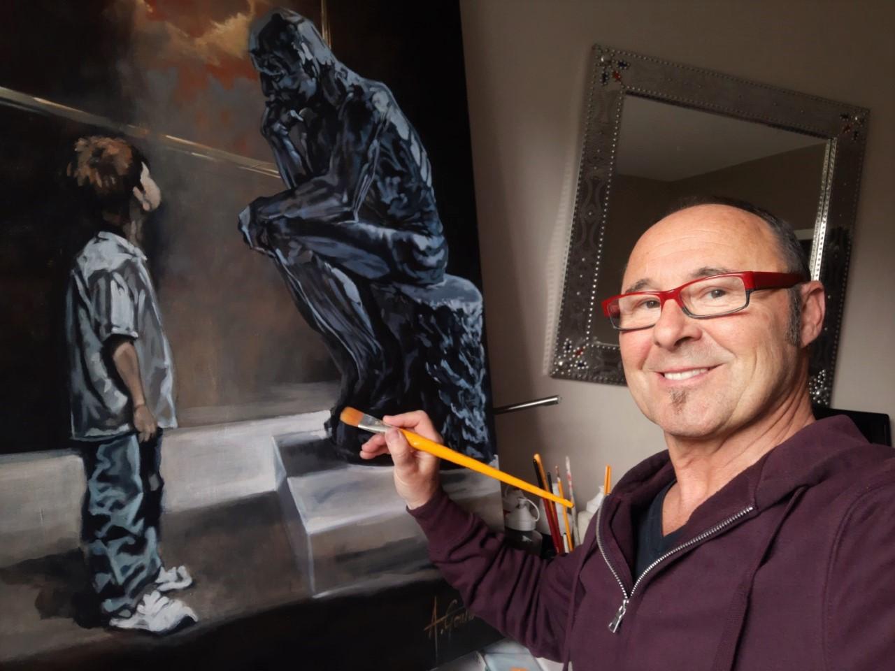 Alain Gonthier au travail