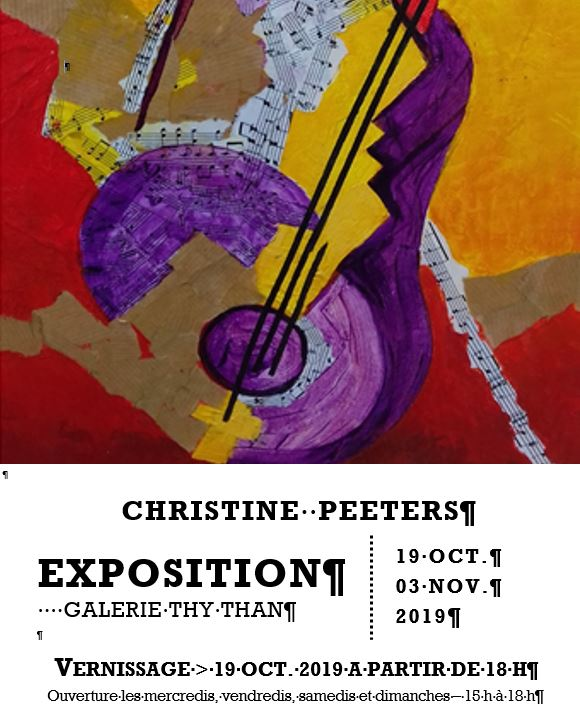 Exposition de Christine Peeters