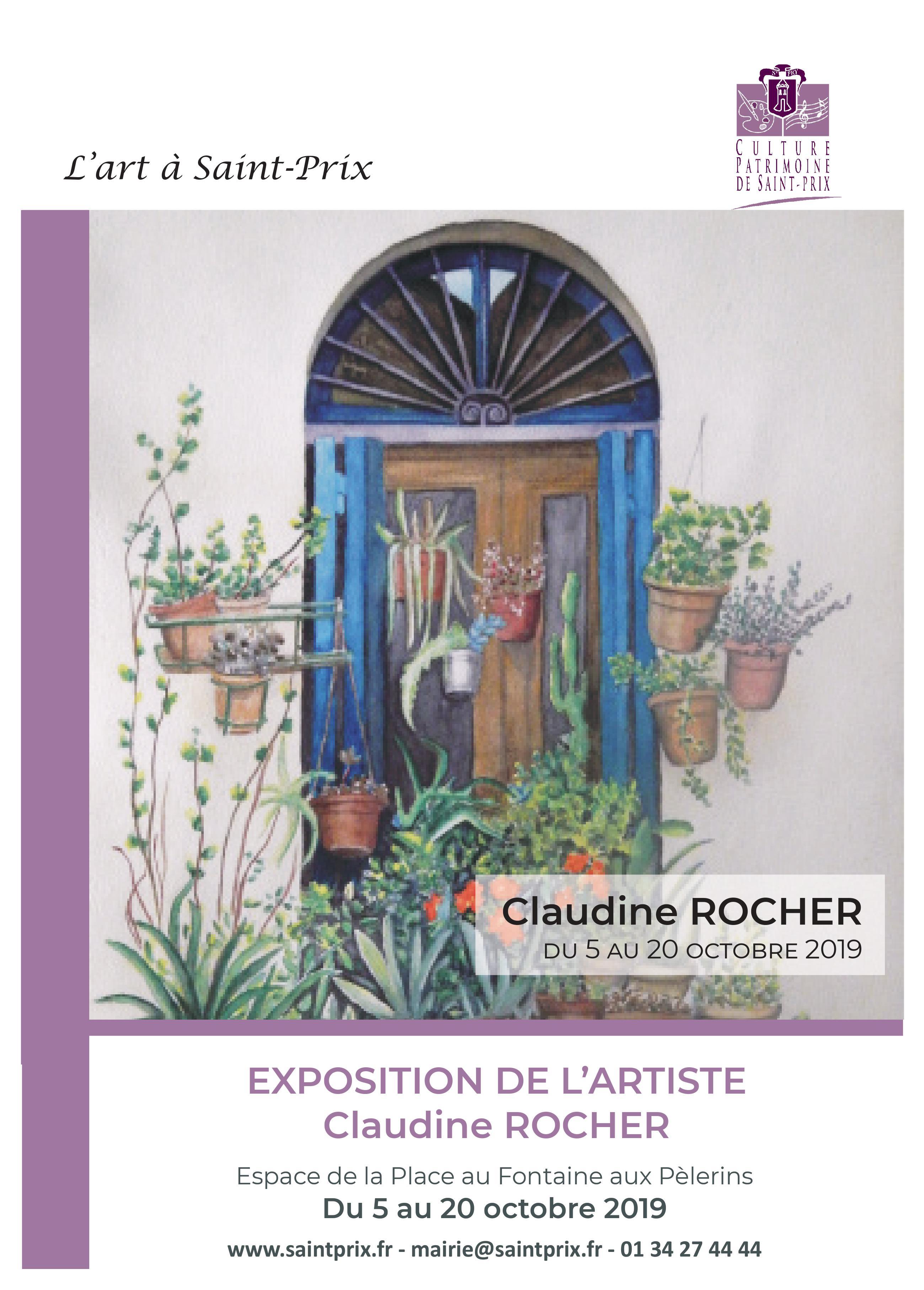 Exposition de Claudine Rocher
