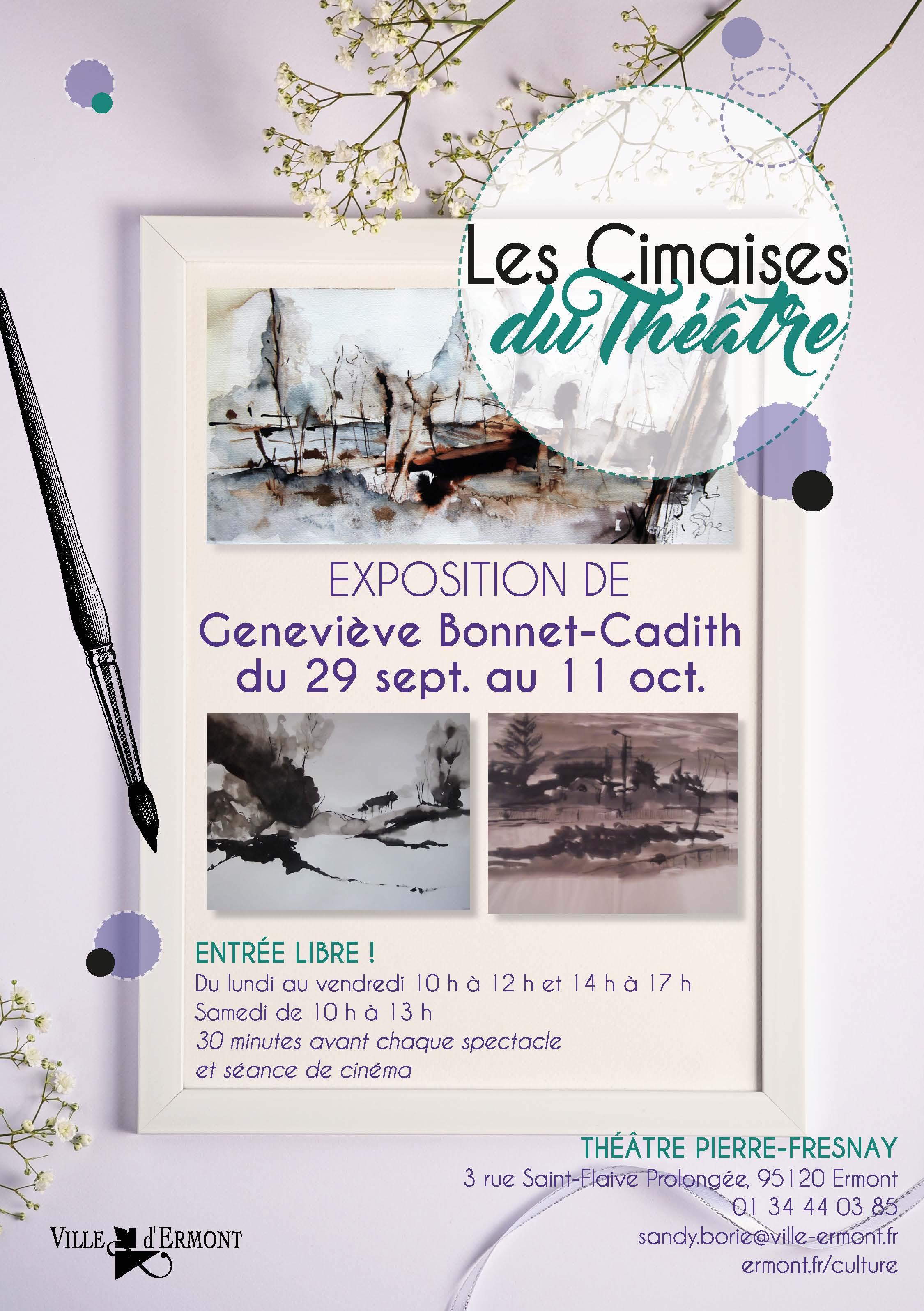 Peintures de Geneviève Bonnet-Cadith
