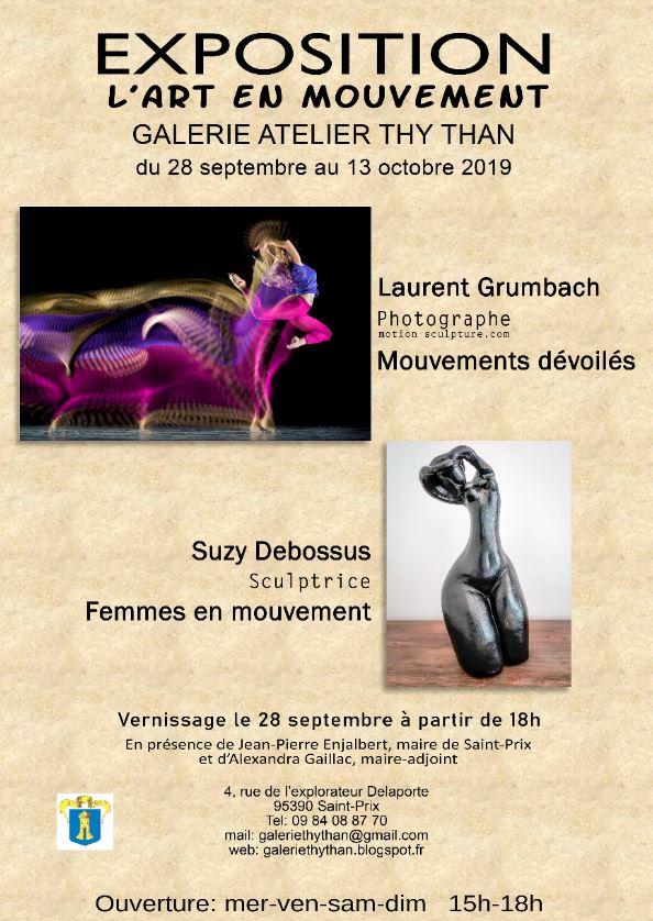 Exposition L'ART EN MOUVEMENT à Saint-Prix