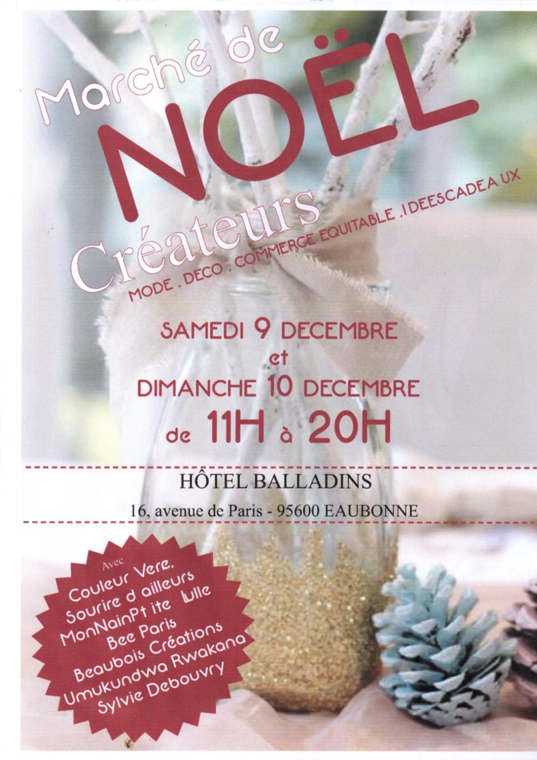 Marché de Noël Créateurs Eaubonne