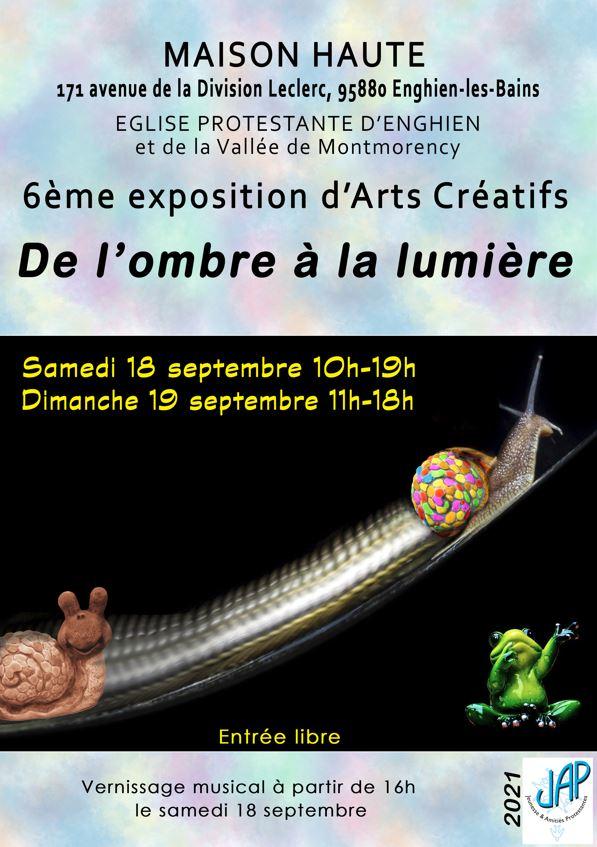 Exposition Arts créatifs Enghien - septembre 2021